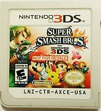 3DS Super Smash Bros Not For Resale Rare Game Demo