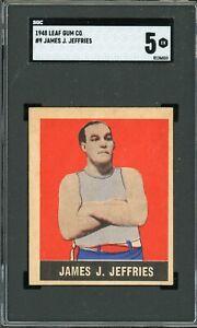 1948 Leaf #9 Jim Jeffries HOF SGC 5!!