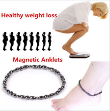 Magnetic Hematite Beads Anklet Clasp Pain Relief Energy Powerful Bracelet Chain
