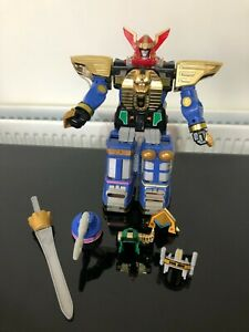 Power Ranger Zeo Megazord Vintage toy with helmets and sword Very rare toy