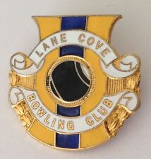 Lane Cove Bowling Club Badge Pin Vintage Lawn Bowls (L28)