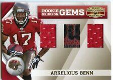 2010 Panini Gridiron Rookie Rc Gems Jersey Football Arrelious Benn 50/50 *42701
