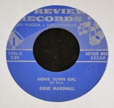 Gene Marshall Preview Records 1926 Home Town Gal and In Your Arms I Belong