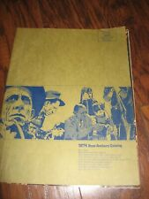 Fred Bear Archery 1974 catalog brochure original vintage