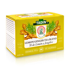 1 TADIN LEMON GINGER TEA BLEND 24 BAGS / 1 TE DE LIMON Y JENGIBRE TADIN 24 BOLSA