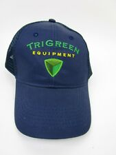 Tri Green Equipment Farm Implements Workman's Mesh Navy Blue Hat One Size Fits