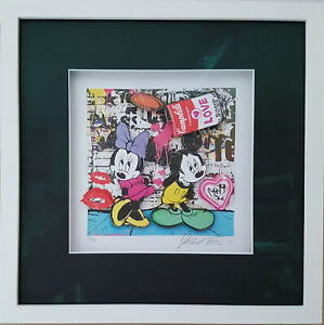 "Michel Friess "" Mickey love Soup 3D "" Museumsglas Nr. 30/99   37.5 x 37,5 cm"