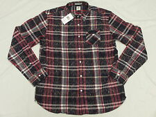 $89 NWT NEW Mens Marc Ecko Button Down Shirt Partition Woven Plaid Size M L257