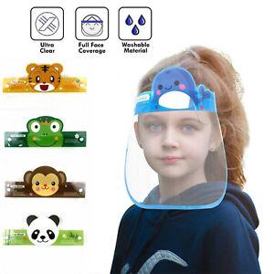 3Pc Kids Boys Girls Child Face Shield Mask Visor Anti Fog Splash Protection