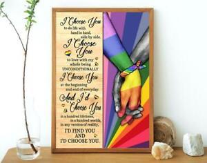 LGBT I Choose You Vertical Poster No frame Home Wall Decor Best Valentine Gift