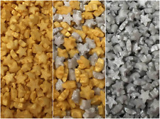 25g Edible Micro Tiny Gold Silver Sugar Star Cupcake Cake Sprinkles Decorations