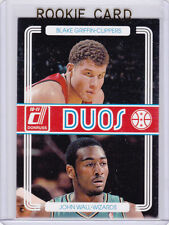 JOHN WALL ROOKIE CARD 2010/11 WIZARD Donruss Duos RC Basketball w/ BLAKE GRIFFIN