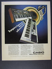 1983 Casio Casiotone CT 405 & 7000 CT405 CT7000 Keyboards photo vintage print Ad