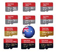 SanDisk Micro SD Card 16G 32G/64G/128G/200GB Class 10 SDHC SDXC Memory Card AU