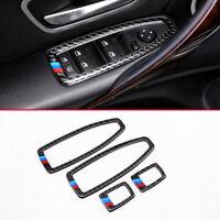 Carbon fiber Innen Tür Fenster Schalter Schutz Zubehör für BMW 3er GT (F34)14-18