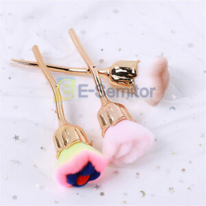 Nail Art Power Dust Brush Beauty Tool For Manicure Metal Rose Head Blush Brushes