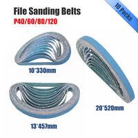Abrasive File Sanding Belts- Silicon Carbide-40,60,80,120 Grit-10mm, 13mm & 20mm