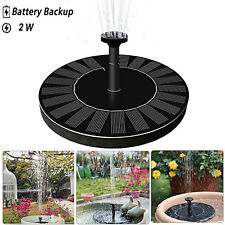 Upgraded 2W Solar Water Fountain Pump with Battery Backup Back Yard Garden