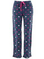 PJ Couture Women's Navy Heather Hearts Lounge Sleep Pajamas Pants