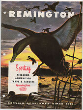1950s Remington Rifles & Ammunition Trade Catalog w/ 30 Pages of Illustrations