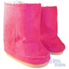 Hot Pink Boots Fur Lined Ewe Winter Shoes fit 18 inch American Girl Doll Clothes
