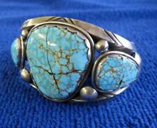 Sterling Silver and Turquoise Cuff Bracelet w/cracked stones