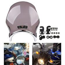 """7"""" Universal Motorcycle Round Windshield For Honda CB Yamaha Kawasaki Suzuki"""