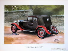 MG 18/80 Mark I Speed Model. Vintage Car Print. MG Print.