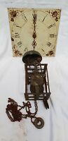 Antique Prew Shipston Worcester Long Case Clock Movement With Bell Restoration