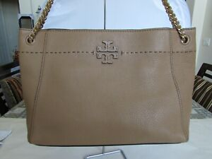 Tory Burch 41780 Mcgraw Chain- Shoulder Slouchy Tote Baguette 03255449 $498