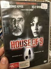 House of 9 ex-rental region 4 DVD (2005 Dennis Hopper horror movie) * rare *