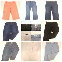 Lot 8 Size 14 Denim Capris Jeans Ankle Cropped Pants Jordache Gloria Vanderbilt