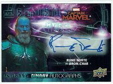 Avengers Endgame & Captain Marvel 2020 Autograph BA-RT Rune Temte as Bron-Char