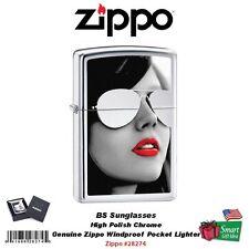Zippo BS Sunglasses, High Polish Chrome Lighter, Genuine Windproof #28274