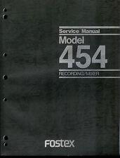 Rare Original Factory Fostex Model 454 Recorder/Mixer Service Manual