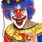 Adulto Disfraz Payaso Circo Jumbo Salpicador Gafas & Zapato De Tacón