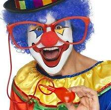 Adult Circus Clown Fancy Dress Jumbo Squirting Glasses & Pump by Smiffys New