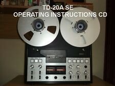 TANDBERG  TD-20-A SE  INSTRUCTION  MANUAL  ON A CD ONLY 9.95 FREE SHIPPING