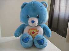 "GIANT Huge Jumbo Care Bears CHAMP BEAR 27"" Plush Stuffed Animal RARE"