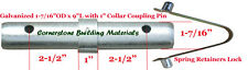 One Scaffold Coupling Pin 1 716od X 9l With 1 Collar Amp One Spring Retainer