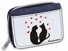 Soulmates' Cats in Love Silhouette Girls/Ladies Denim Purse Wallet Ch, SOUL-16JW
