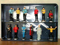 1991 Star Trek Danbury Mint Ceramic Figure Collection of 12 w Display