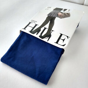 """NEW Macys HUE OPAQUE TIGHTS Color: BLUE SHOCK - Size 2, 120-170lbs, 5'3""""-6'"""