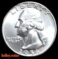 1956-D 25C Washington Silver Quarter BU