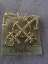 CAROL LEE LG PIN/BROOCH  Anchor Rhinestone  New Old Stock