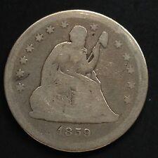 USA 1859 Seated Liberty Quarter Dollar 25 Cent Philadelphia Silber Selten 3642