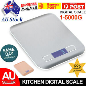 1g-5kg Kitchen Food Scale Digital LCD Electronic Balance Weight Postal Scales AU