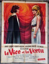 cinema-affiche originale- LE VICE ET LA VERTU -120x160-Soubie-Vadim-Deneuve-1963