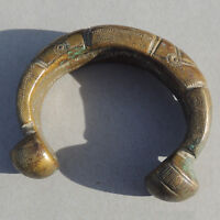 an old antique copper alloy bronze african bracelet mali #91