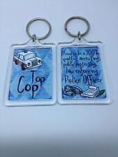 Top Cop Police Keyring - Xmas Gift Present Idea